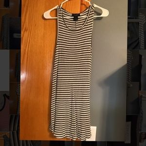 Striped loose stretchy dress